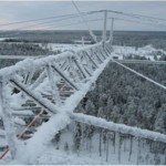 80M yagi at 90 meters high (300ft) during winter time.